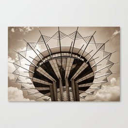 ORU Prayer Tower - Sepia Edition Canvas Print