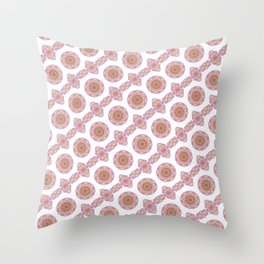 stylized roses pattern background Throw Pillow