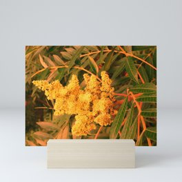 Yellow Sideways Sumac Mini Art Print