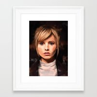 lucy Framed Art Prints featuring Lucy by Wisesnail