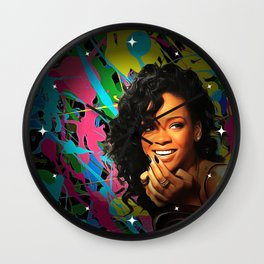 Rihanna - Celebrity Art Wall Clock
