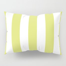 Bored accent green -  solid color - white vertical lines pattern Pillow Sham