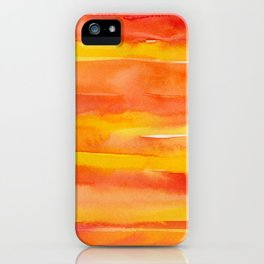 Watercolor Pattern Abstract Summer Sunrise Sky on Fire iPhone Case