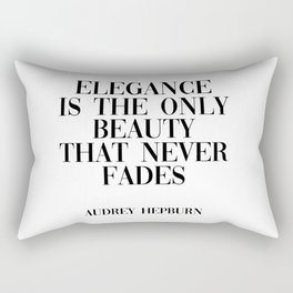 Audrey Hepburn quote Rectangular Pillow