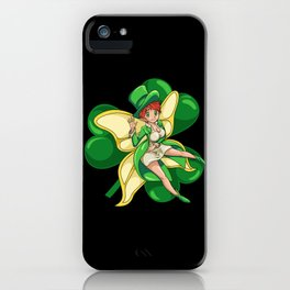 Irish Fairy - St. Patrick's Day Kawaii Fantasy iPhone Case