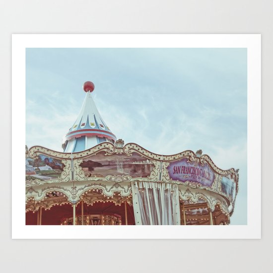 Pier 39 Carousel - San Francisco Art Print