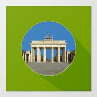 berlin Canvas Prints featuring Berlin by Matthias Hennig