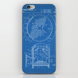 Skydiving Wind Tunnel Patent - Sky Diving Art - Blueprint iPhone Skin