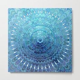 Frozen Oval Mandala Metal Print