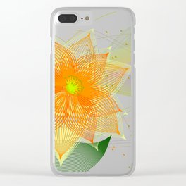 Fancy colorful abstract flower Clear iPhone Case