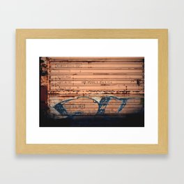 Dripping Out Me Color Rust Framed Art Print