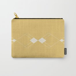 Minimal Geometry - Golden Yellow Carry-All Pouch