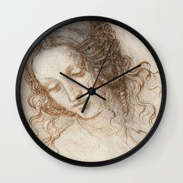 Leonardo da Vinci - Head of Leda Wall Clock