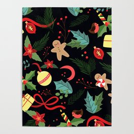 Christmas Pattern 8 Poster