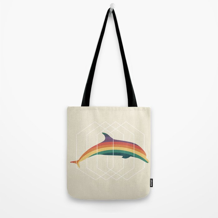 Calico Dolphin Tote Bag