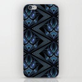 Art Deco 37. Black-blue satin . iPhone Skin