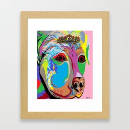 Lady Rottweiler Framed Art Print