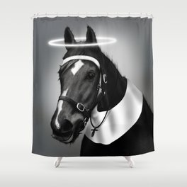 Saintly McGallop Shower Curtain