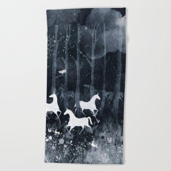 forest moon Beach Towel