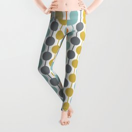 Retro Circles Mid Century Modern Background Leggings