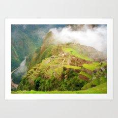 Machu Picchu Textured 2 Art Print