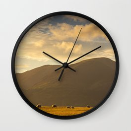 Sheep grazing in the Lake District, England Wall Clock