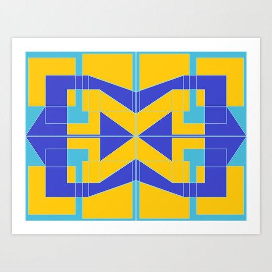 Go Blue Art Print