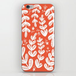 Red Leaves iPhone Skin