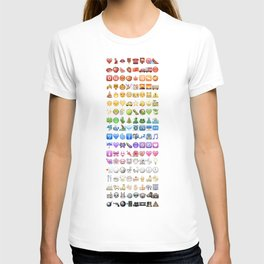 Emoji icons by colors T-shirt