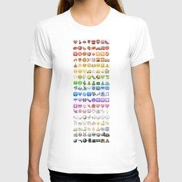Emoji icons by colors T-shirt