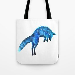 Space Fox | Fox Constellation | Leaping Fox | Double Exposure Fox Tote Bag