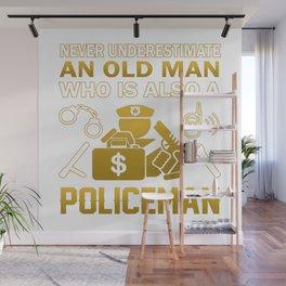 Old Man - A Policeman Wall Mural