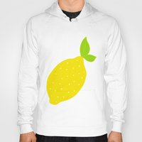 lemon Hoodies featuring Lemon  by Ariel Lark