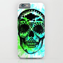 Calavera humo neón iPhone Case