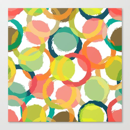 COLORFUL CIRCLES PATTERN  Canvas Print