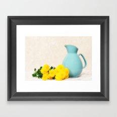 The Yellow Mums Framed Art Print