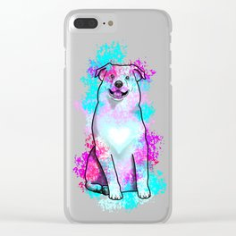 Australian Shepherd in Watercolor Splash Clear iPhone Case