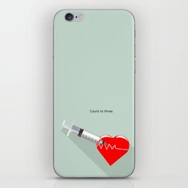 Shot to the heart - Pulp fiction Overdose Needle Scene needle for injection  iPhone Skin