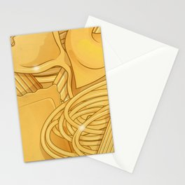 the real italian Pasta food background Stationery Cards