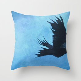 As The Crow Flys Throw Pillow