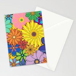 Hippie Flower Art Stationery Cards