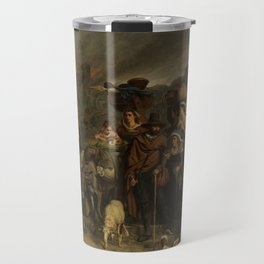 fire in the Sabine mountains Travel Mug