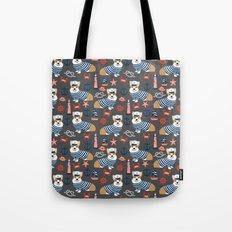 Corgi sailor custom pet friendly dog breed welsh corgis nautical pattern Tote Bag