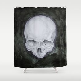 skull study No.4 (aka - Paul) Shower Curtain
