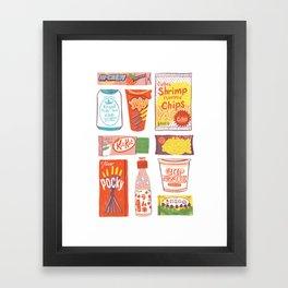 Asian Snacks Framed Art Print