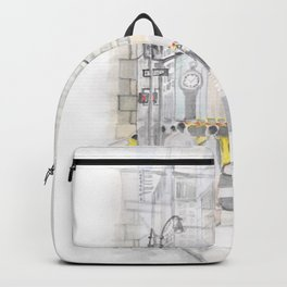 The reflection of a big city Backpack