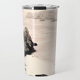 Stone in sea Travel Mug