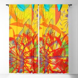 The marathon goes to a heat: abstract art is devoted to athletes to runners Blackout Curtain