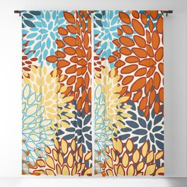 Colorful Bright Floral Pattern Abstract Blackout Curtain