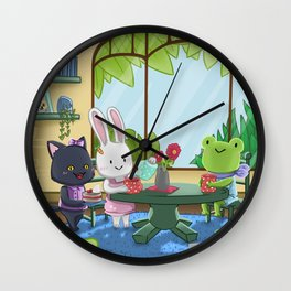 Tea with Friends Wall Clock
